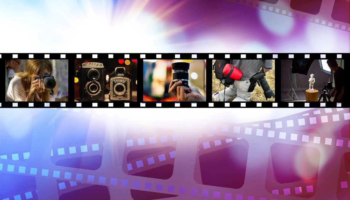 film strip with production studio